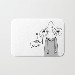 Cute zombie illustration Bath Mat