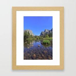 Yosemite and mirror lake Framed Art Print