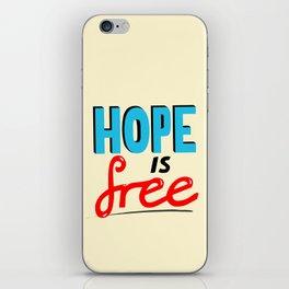 Free Hope iPhone Skin