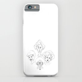 The Golden Girls - Caricature Sketch iPhone Case