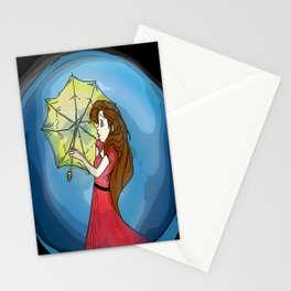 Girl in Red Stationery Cards
