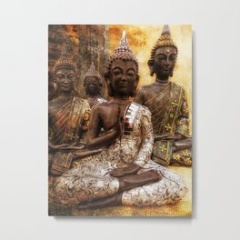 the 4 Buddhas Metal Print