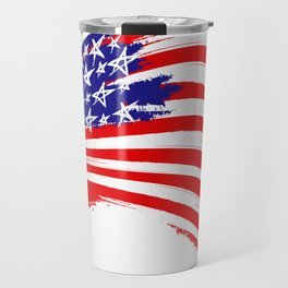 USA Sketched Flag Travel Mug