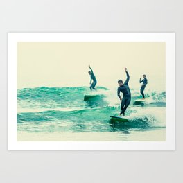 Surfing - Style Points Art Print
