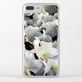 White Blossoms in Verona Flower Shop, Italy Clear iPhone Case