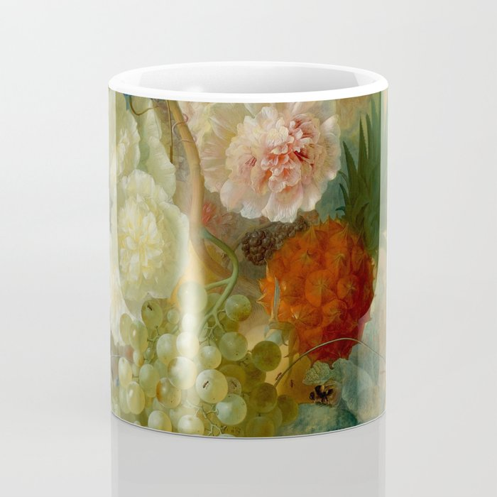 "Jan van Os ""Still life of peonies, a cock's comb and morning glories"" Coffee Mug"