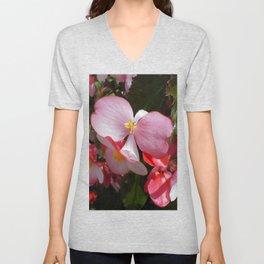 Begonia in the Rose Garden Unisex V-Neck