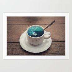 Surf's Cup Art Print