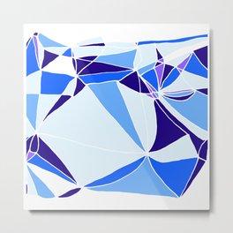 Blue mosaic Abstract artwork Metal Print