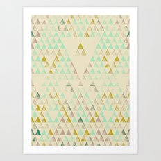 Triangle Lake Art Print