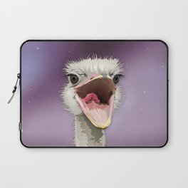 The Ostrich's Calling Laptop Sleeve