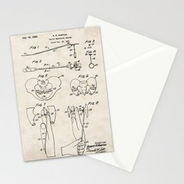 Pelvic Measuring Device Vintage Patent Hand Drawing Stationery Cards