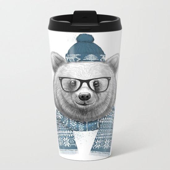 winter bear Metal Travel Mug