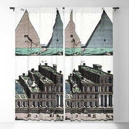 Pyramids and Floating (Suspended) Gardens of Babylon Blackout Curtain