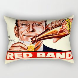 Vintage poster - Red Band Beer Rectangular Pillow