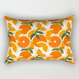 Orange Harvest - White Rectangular Pillow