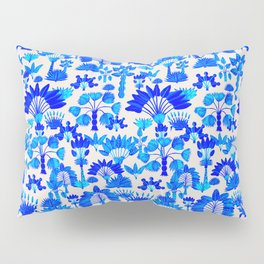 Exotic Garden Blue Pillow Sham