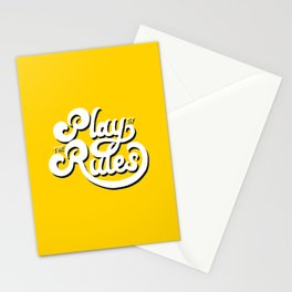 Play by the rules Stationery Cards