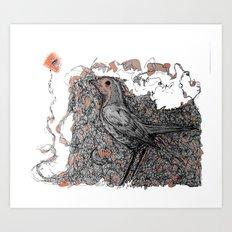 Flying hunted Art Print
