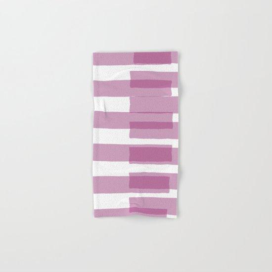 Big Stripes in Purple Hand & Bath Towel