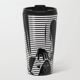 Cindy & George, Freedom 90's Vector Black and White Travel Mug