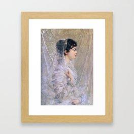 Guillaume Dubufe - Madame Dubufe née Cécile Woog 1881 Framed Art Print