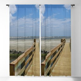 Welcome To The Beach Blackout Curtain