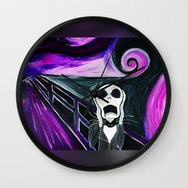 Nightmare Before Christmas Scream Wall Clock