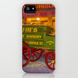 Old Glasgow Street Scene  iPhone Case