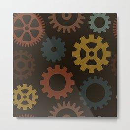 Steampunk Gears Metal Print