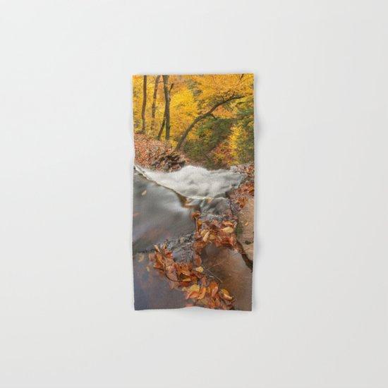 Autumn Waterfall Precipice Hand & Bath Towel