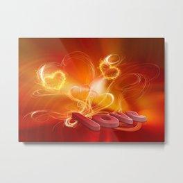 Flammende Liebe - Flaming Love Metal Print