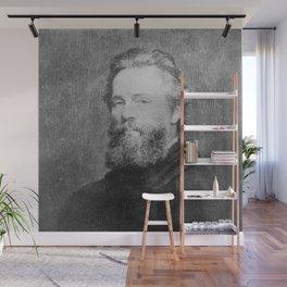 Joseph Oriel Eaton -portrait of Herman Melville Wall Mural