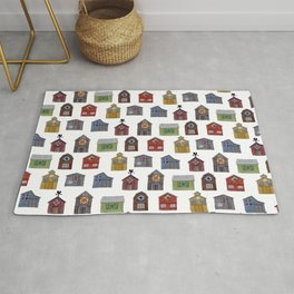 Barn Quilt Illustration Rug