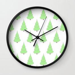 Background christmas tree Wall Clock