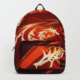 Tänzerin mit Drachen Backpack