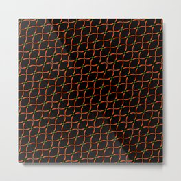 Hot Chili Pattern Metal Print