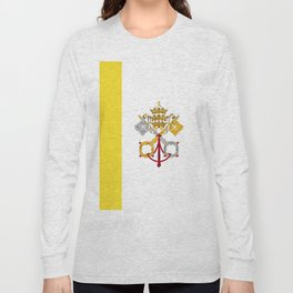 Vatican City Holy See flag emblem Long Sleeve T-shirt