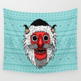 Bucovina Mask / Masca de Bucovina Wall Tapestry
