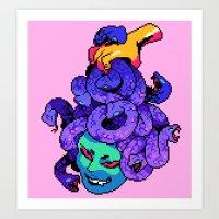 medusa Art Prints featuring medusa by Ginseng&Honey