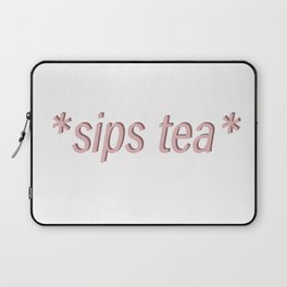 sipping tea Laptop Sleeve