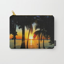 Sunset on Exotic Beach Carry-All Pouch