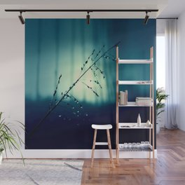 Blue Willow in the rain Wall Mural