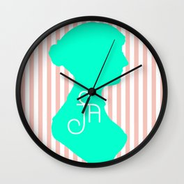 It Stands for Jane Austen, Obviously Wall Clock