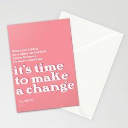 It's Time to Make a Change - Jess Novak Lyric Print - Inspirational Stationery Cards