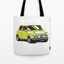 Mini Cooper Car - Chartreuse Tote Bag