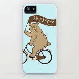 Friendly Neighborhood Bicycle Bear iPhone Case