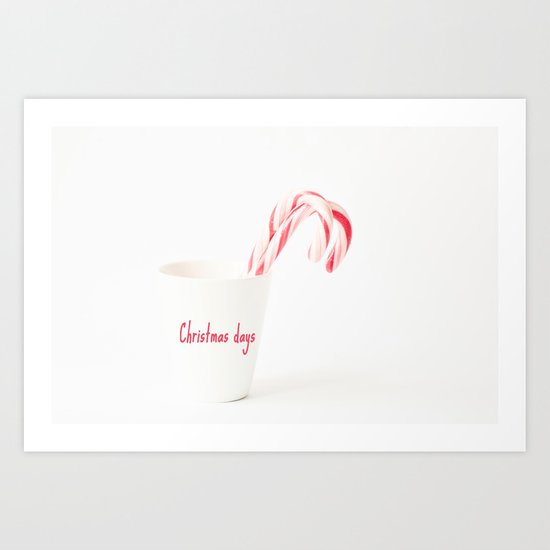 Christmas days Art Print