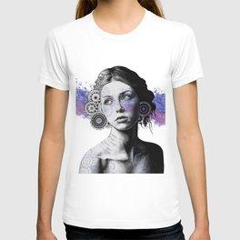 Ayil   vintage lady portrait   mandala doodles sketch) T-shirt