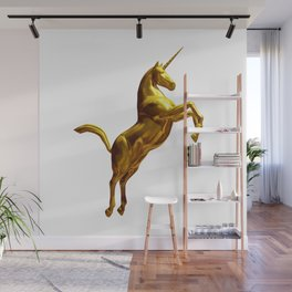 Gold Unicorn Wall Mural